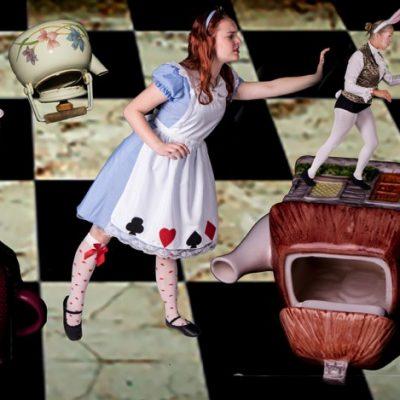Alice chasing the Rabbit